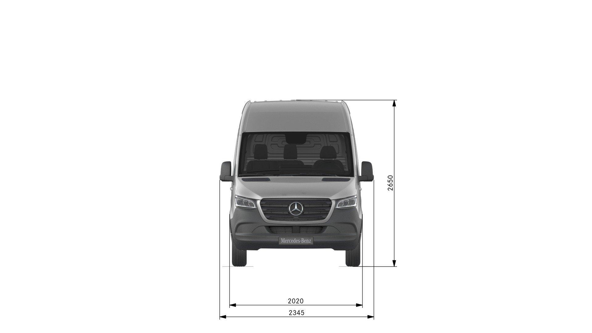Van drawings-Front view-standard