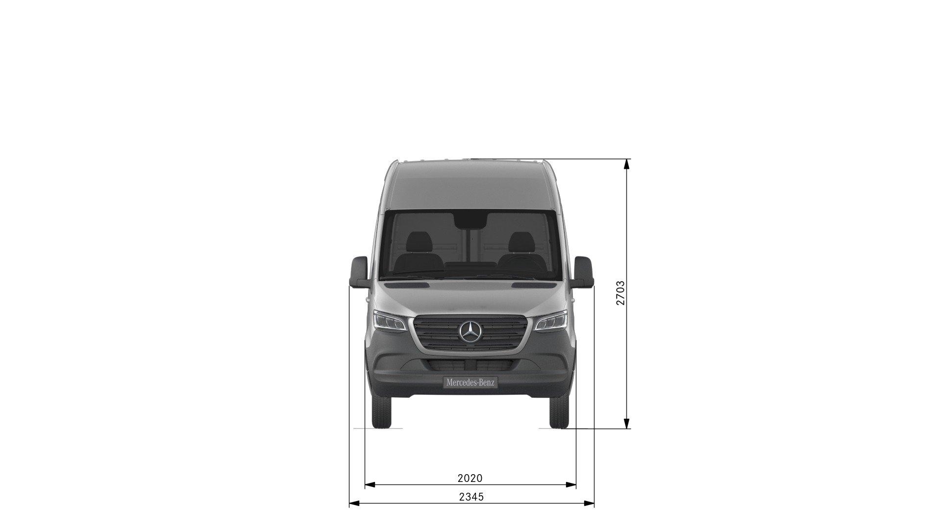 Van drawings-Front view