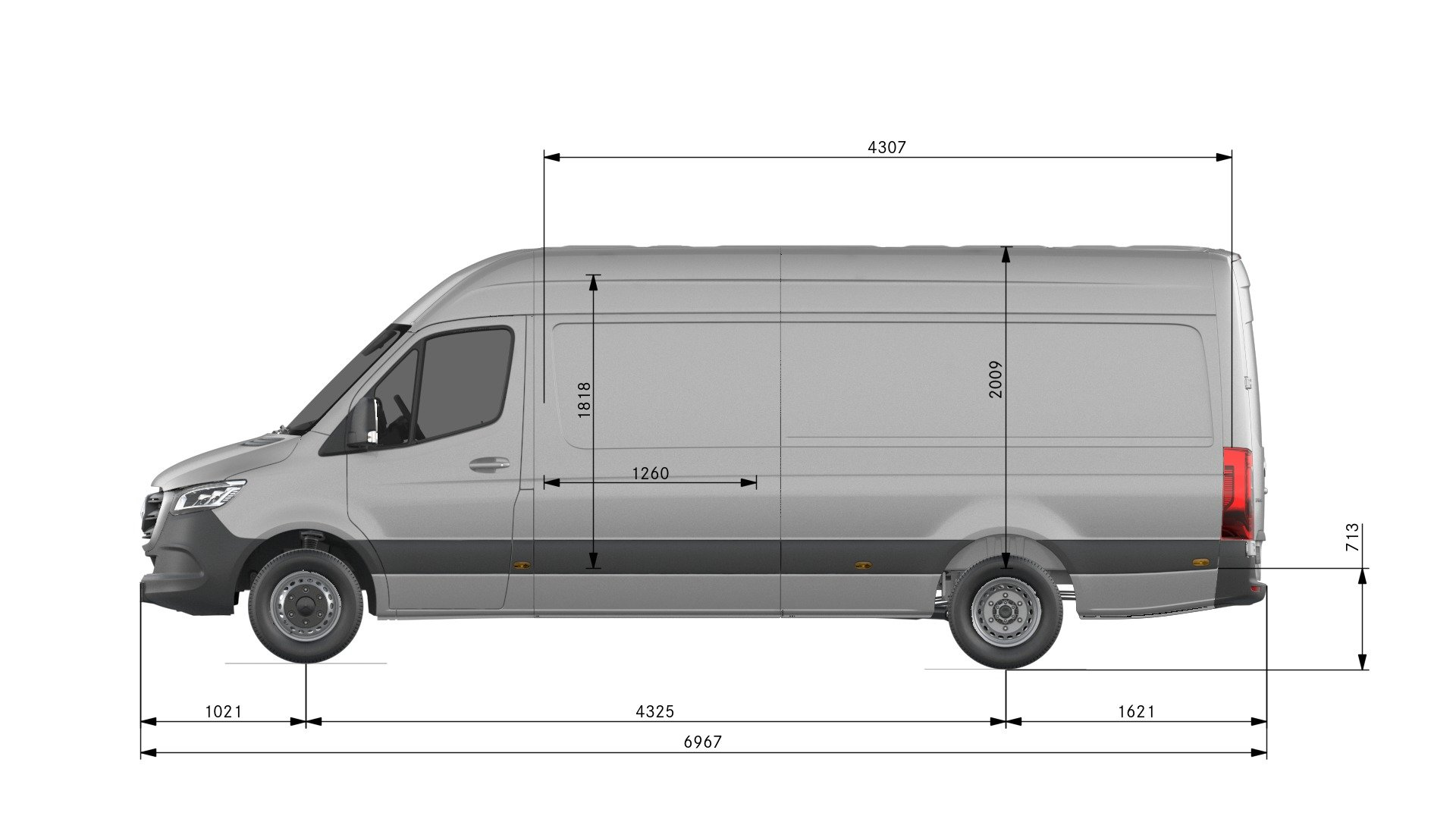 Van drawings-Side view-long
