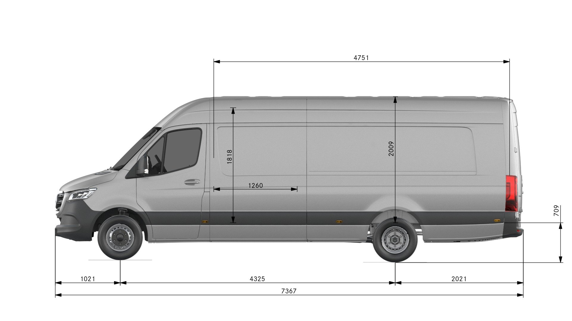 Van drawings-Side view