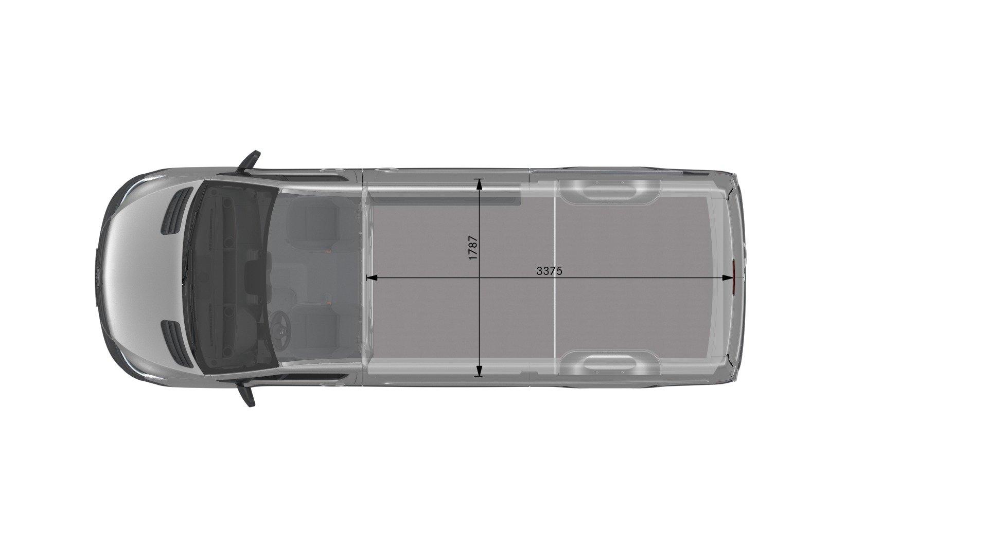 Van drawings-Top view-standard